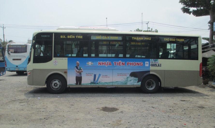 Dịch vụ dán decal quảng cáo công ty trên xe ô tô – xe buýt- xe tải uy tín giá rẻ ở đâu tại Bến Tre